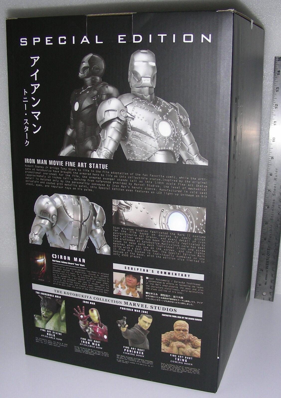 Kotobukiya Iron Man Fine Art Statue Mark II 2 Special Edition Rare 1646 de 2500