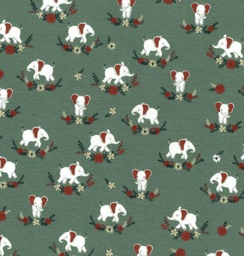 Niños Jersey de algodón tejido Elefante John Louden 150cm de ancho