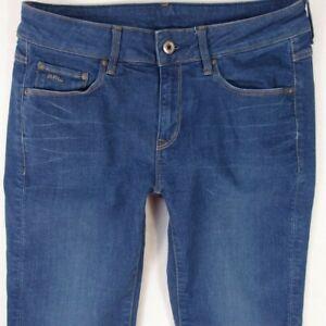 Womens-G-Star-3301-CONTOUR-HIGH-STRAIGHT-Stretch-Slim-Blue-Jeans-W28-L32-Size-8