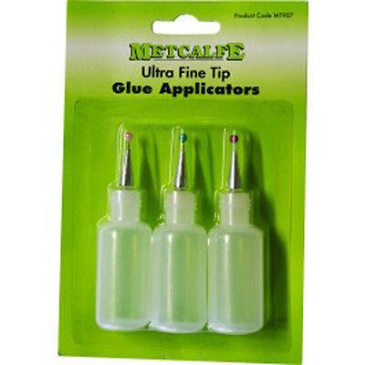 Metcalfe Ultra Fine Tip Glue Applicators Triple Pack MT907
