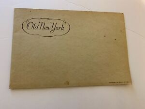 NEW-YORK-COLLECTIBLE-1935-BOOKLET-OLD-NEW-YORK-SCENES