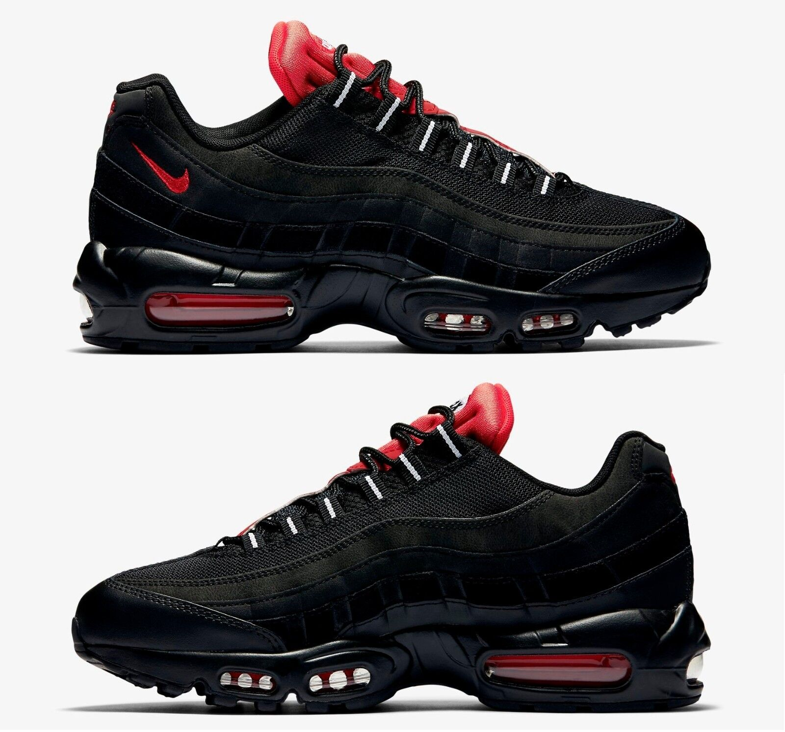 online store b92fb f0b7d ... where to buy hot sale nike air max 95 essential mens running mesh black  challenge red