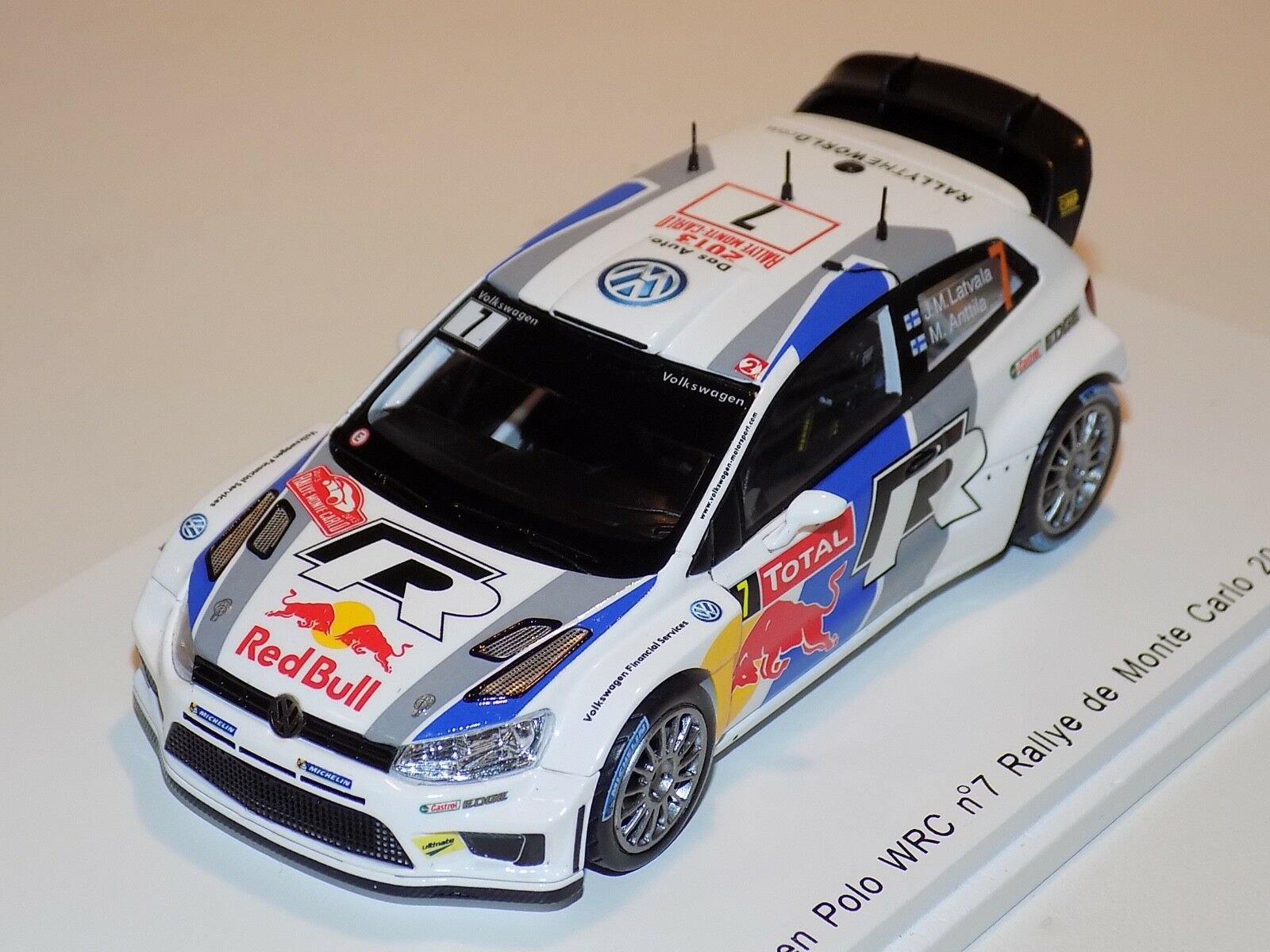 1 43 SPARK Volkswagen Polo WRC voiture  7 Rallye Monte Carlo 2013 J.M. Lavala S3358