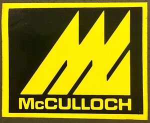 Vintage Mcculloch Chainsaw Sticker Decal Early 1970 S Ebay
