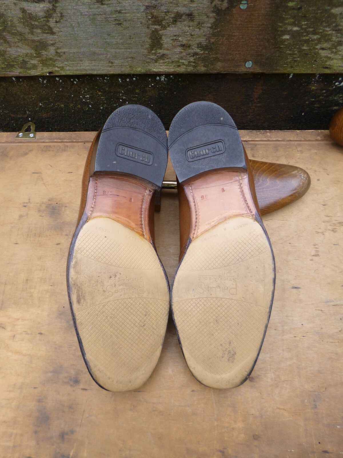 CHURCH VINTAGE LOAFERS – BROWN BROWN –  – UK 7.5 – SUPERB CONDITION 6aaaf1