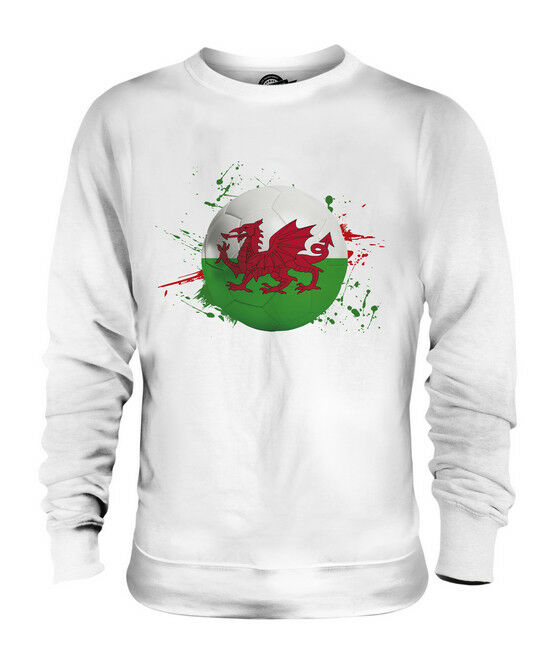WALES FOOTBALL UNISEX SWEATER  TOP GIFT WORLD CUP SPORT
