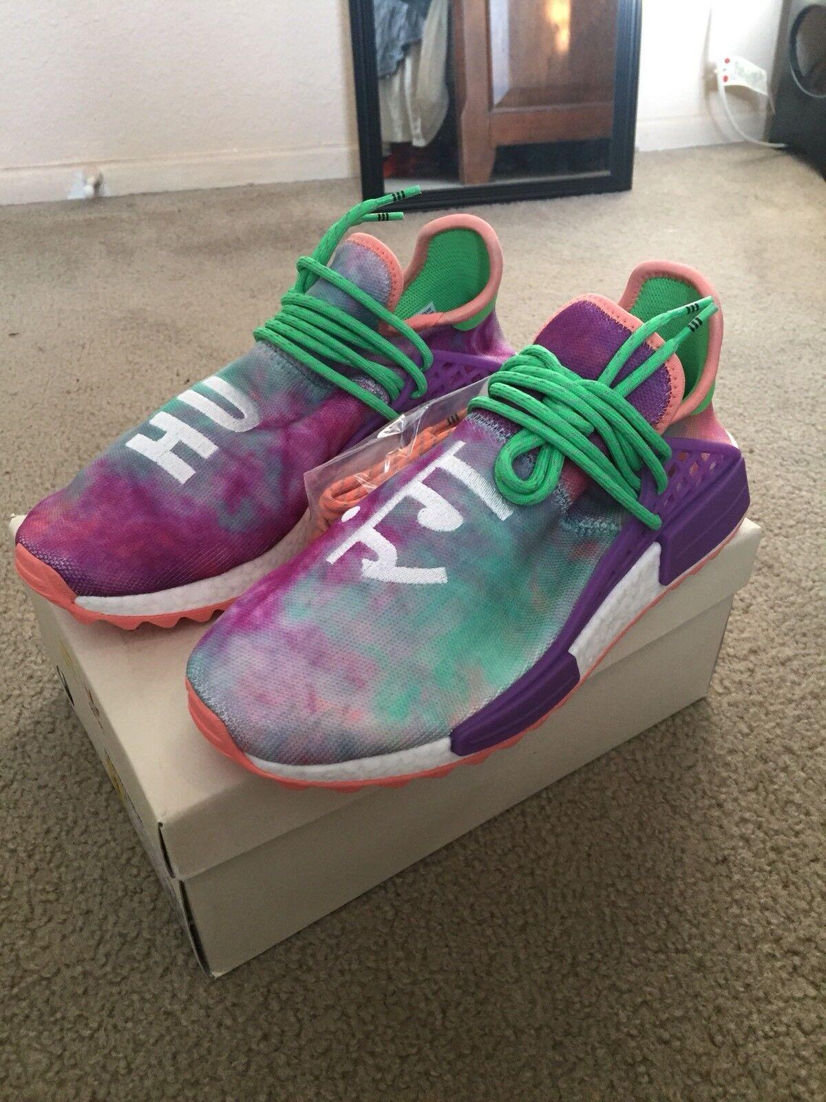 Adidas Pharrell Williams Human Race Holi Trail NMD Chalk Size 9 Coral AC7034 DS