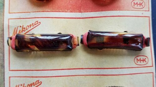 """Pair of /""""Mikona/"""" Tortoise Shell Pony Tail Holders S2 Vintage Hair Barrettes"""