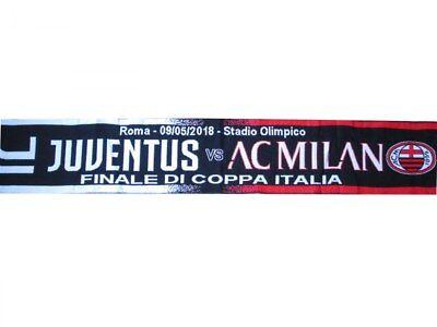 Mettere In Guardia Sciarpa Juventus Milan 4-0 Finale Coppa Italia 9 Maggio Ufficiale Originale Roma Alta Qualità