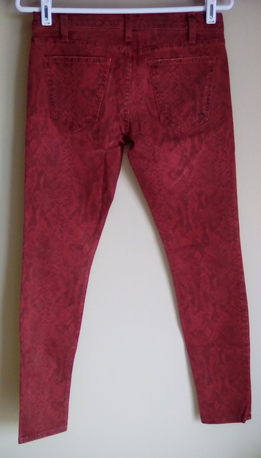 NWT Current Elliott The Ankle SKINNY in Paprika Red Snake 25  0