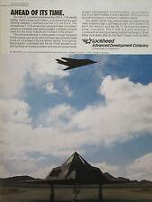 7/1990 PUB LOCKHEED F-117A STEALTH FIGHTER US AIR FORCE ORIGINAL AD