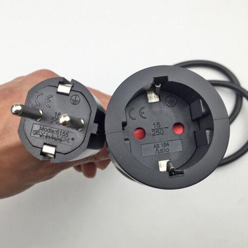 AC 250V 16A EU German Standard Socket Plug Power Cable Extension  Line 3*1.5 MM