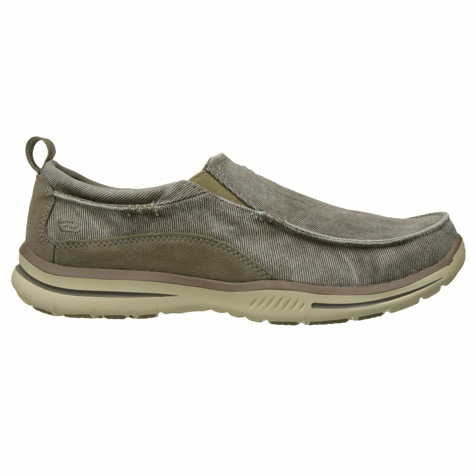 Skechers Elected - Drigo Taupe Mens Slip on Casual Shoes Loafers New