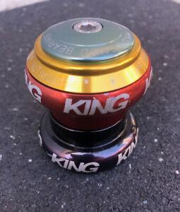 "CHRIS KING Rasta US Made Threadless Headset Green Gold Red 1 1/8"" Retired RARE"