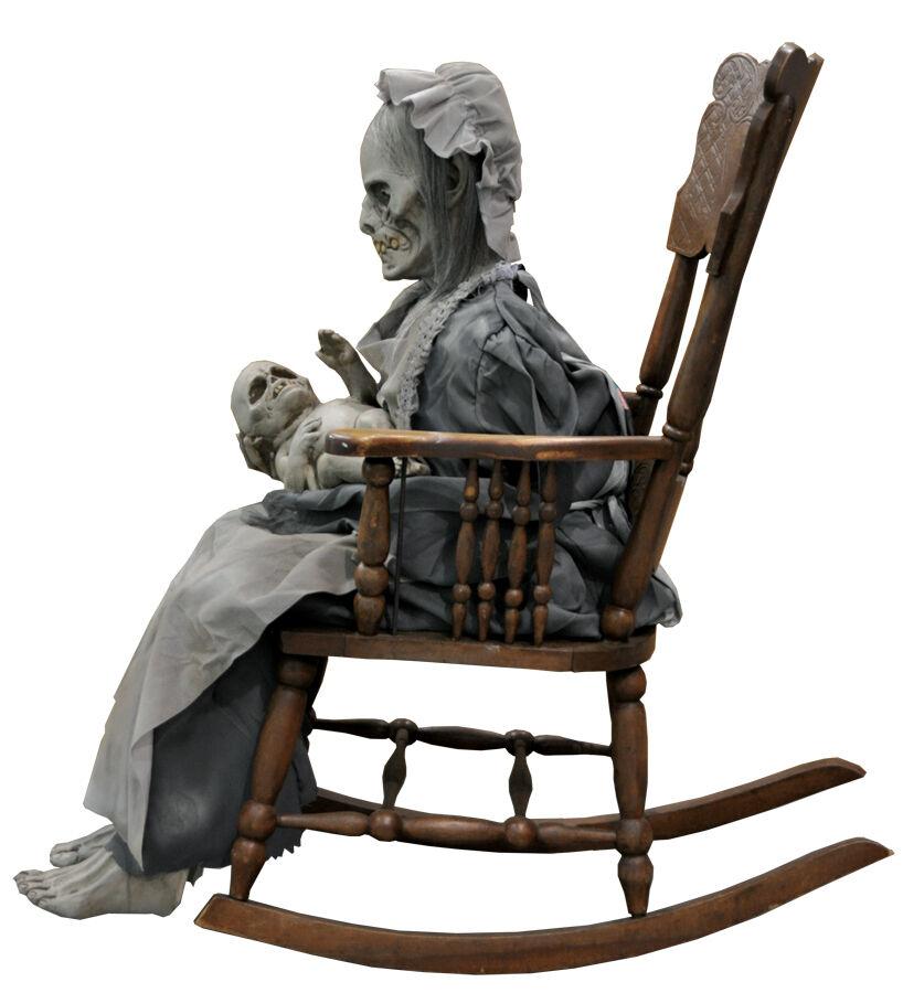 Cool Lullaby Animated Granny Prop Du2017 Ghost Grandma Haunted House Halloween Cheap Creativecarmelina Interior Chair Design Creativecarmelinacom