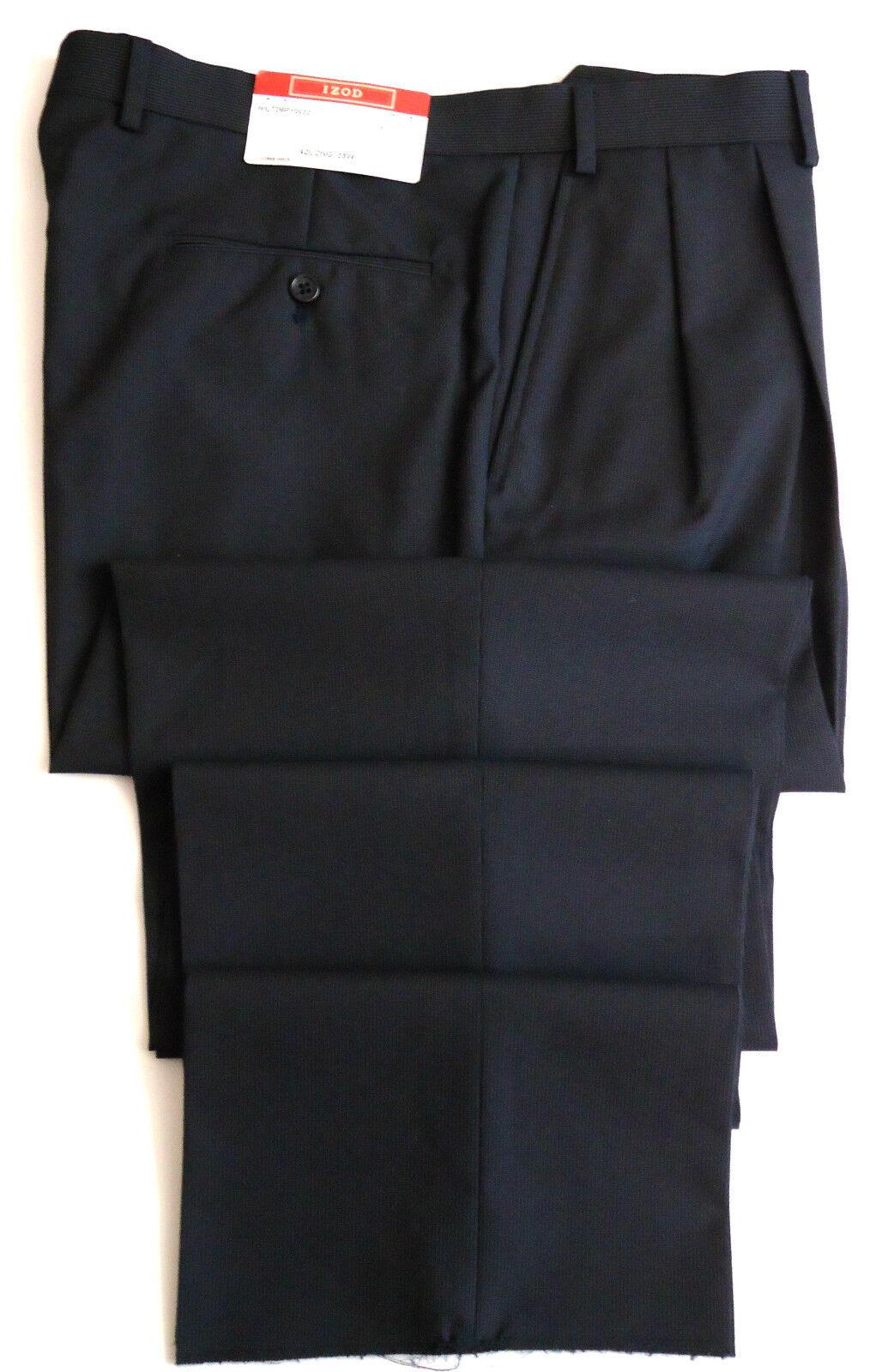 Izod Men's Navy Pin Striped Dress Pant Size W35