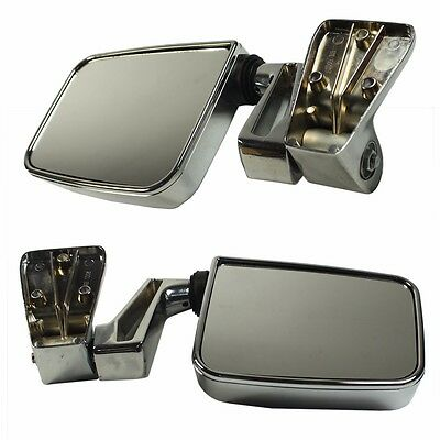 Black Manual Side View Door Mirrors Left//Right Pair Set for 87-02 Jeep Wrangler