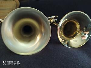 STC-5-039-3-8-Big-Bell-Raw-Brass-Trumpet-w-Flip-Key-Leadpipes-Heavy-D2H-Mouthpiece