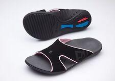 Women's Spenco Total Support Orthotic Slide Sandals Black/Coral Sz 9