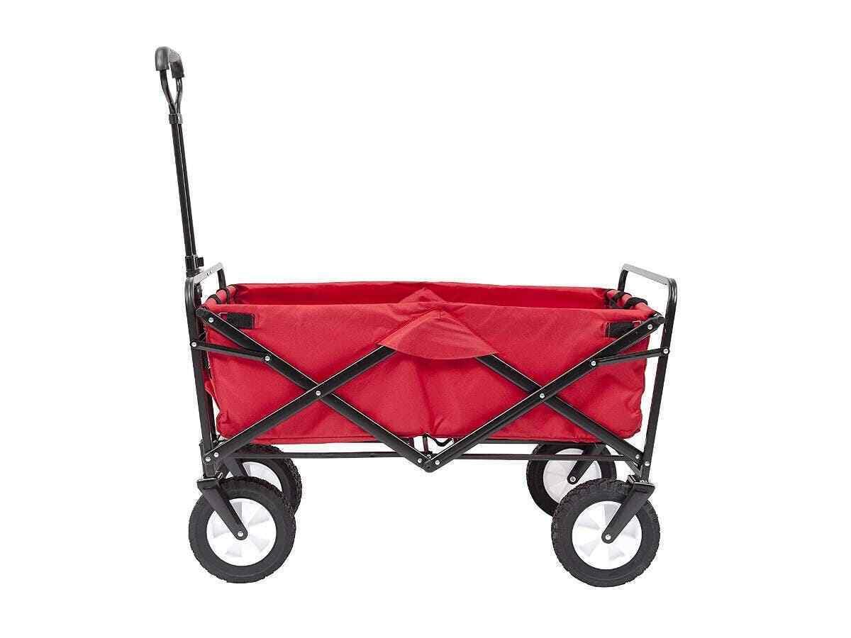 Vagón de utilidad al Aire Libre Plegable Plegable Tire Cochero Rojo PID 39404