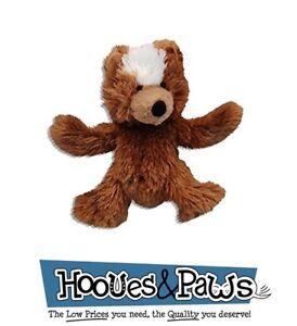 Dog-Toy-Kong-Plush-Pet-Teddy-Bear-Squeaky-Soft-Activity-Fun-Extra-Small