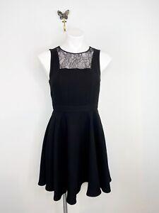 BCBGeneration Black Sleeveless Lace Fit & Flare Dress Size 4