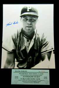Signed-8x10-photo-Hank-Foiles-Pittsburgh-Pirates