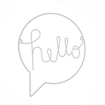 Iron Art Hello Sign Kids Room Wall Decor Hallway Sign Welcome Sign Wall Hanging