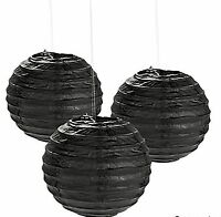 12 Black Paper Chinese Lanterns Centerpieces Wedding Party Decorations