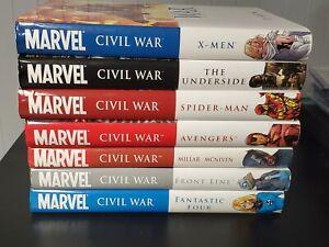 Marvel-Civil-War-OHC-Complete-Set-OOP-Spiderman-Underside-Front-Line-Avengers