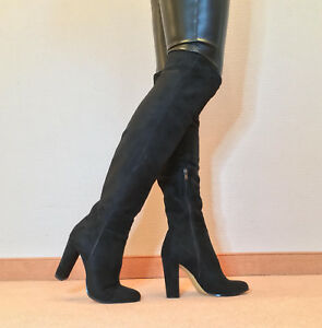 Gr.43 TOP ! Exklusiv Sexy Damen Schuhe Overknee Stiletto Stiefel Männer Boots C5