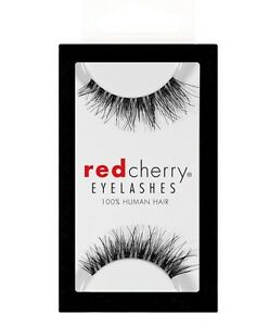 Red-Cherry-DEMI-WISPY-DW-wispies-schwarz-Echthaar-Wimpern-false-strip-lash