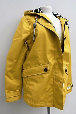 JOULES Coast Womens Yellow Waterproof Hooded Jacket
