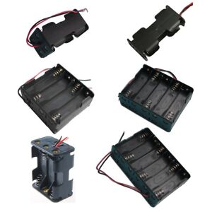2 4 6 8 10 12x AA 3V Battery Holder Case Connector Dual Layers Black Plastic US