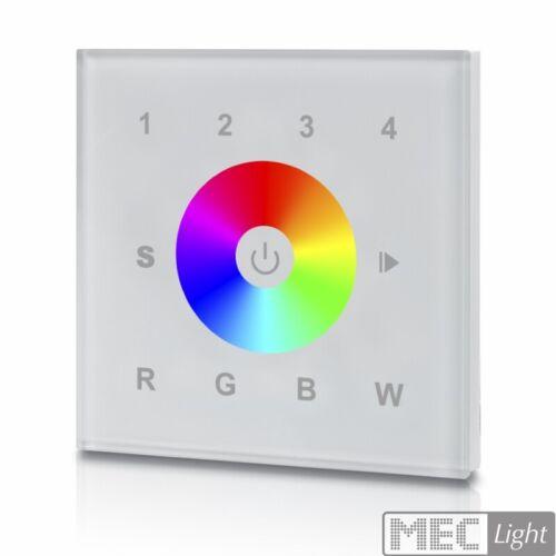 SR-2820AC W 4 Kanal RGB weiß LED Sender // 4 Zonen Funk Wandcontroller Touch