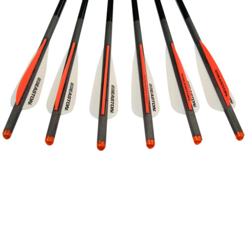 6 Pcs Powerful Carbon Crossbow Bolts Hunting Arrows 20 inch With Half Moon Nock