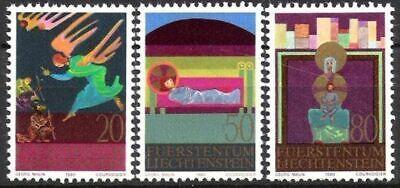 Postfrisch Offen Liechtenstein Nr 761/63 ** Weihnachten 1980