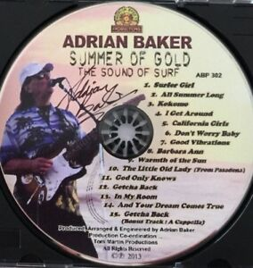 Adrian-Baker-034-Summer-Of-Gold-034-SIGNED-FULL-CD-BEACH-BOYS-OFFICIAL-ABP