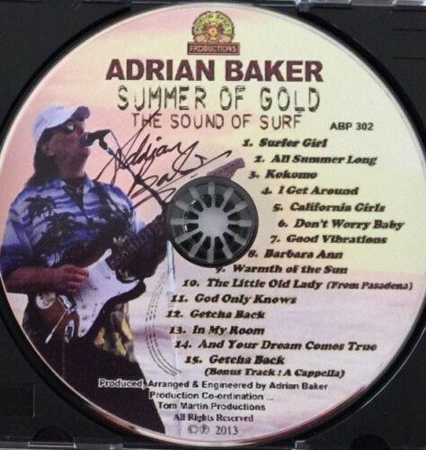 "Adrian Baker OFFICIAL ABP FULL CD SIGNED /""Summer Of Gold/"" BEACH BOYS"