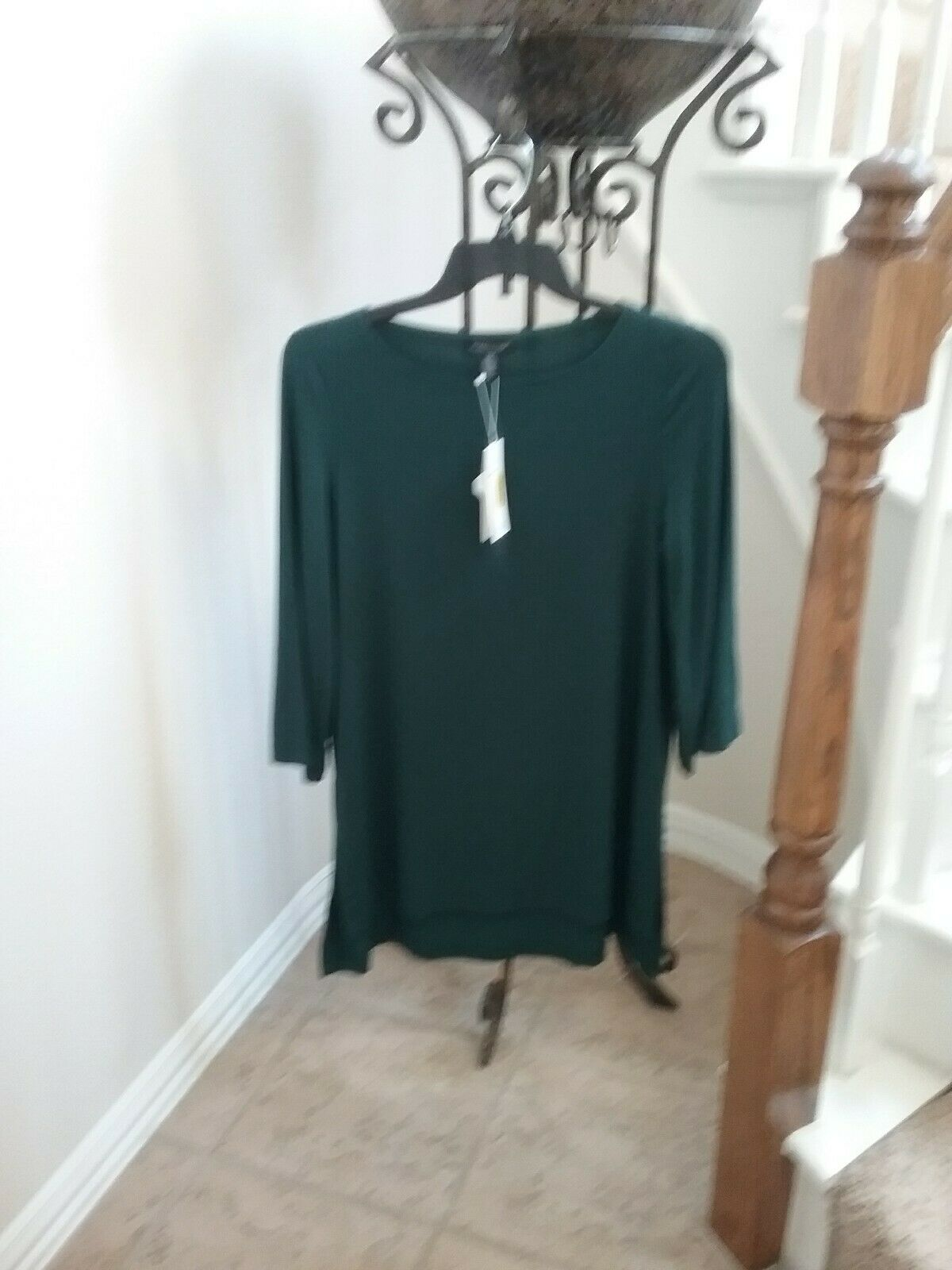 NWT Eileen Fisher Pine Viscose Jersey Bateau Top Tunic Size Size Size 1X MSRP   158 786ca3