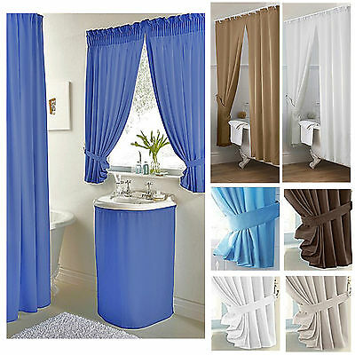 Plain Dyed bathroom curtains shower curtains or sink surrounds ***LAST FEW***