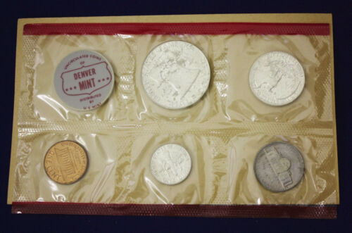 "1963 Official U.S Mint Set Complete and original 10 coins Both /""P/"" /& /""D/"""