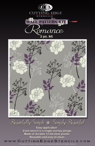 DIY Reusable Wall Stencils for Home Decor Romance Wall Pattern Stencil Kit