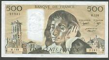 QUALITE : TOP BILLET 500 FRANCS PASCAL DU 08/01/1981 @ BILLET SOUVENIR @ PROMO !