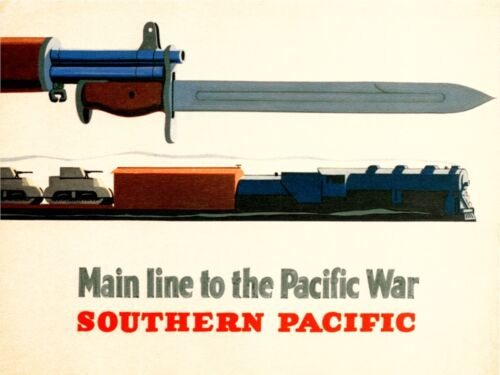 4143.Southern Pacific.Main line to Pacific War.POSTER.Home School art decor