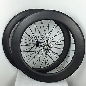 Front-50-rear-80mm-carbon-road-clincher-dimple-road-bike-wheels-700C-R23-hub