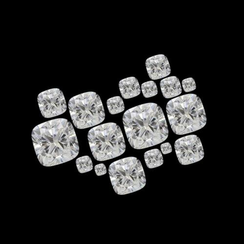 White D Color VVS1 Cushion Cut Moissanite Stone Loose Gemstone With Certificate