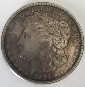 Image Is Loading 1921 S Morgan Silver 1 One Dollar Coin