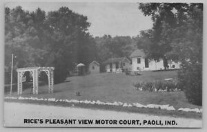 Paoli-Indiana-Trellis-Below-Rice-039-s-Pleasant-View-Motor-Court-Motel-1940s-B-amp-W