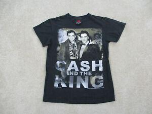 Johnny-Cash-Konzert-Shirt-Adult-Small-schwarz-Elvis-Presley-Rock-Tour-Band-Herren